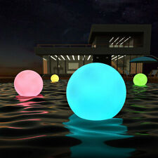 LED Solar Underwater Light Spherical Floating Waterproof Decor XMAS Ball Lamp