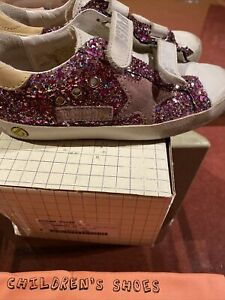 girls Golden Goose Shoes Sparkly Size 31 Pink