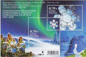 Hologram Snowflake International Polar Year Finland Mint MNH Sheet 2007