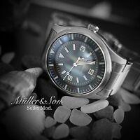 Müller&Son Seiko SNZG Dress Pilot Watch SuperMod R Automatic Metal Bracelet