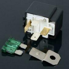 DC 12V 30A 4Pin Electronic Relay Car Automotive Fuse Accessory with Plac So Q2Y6