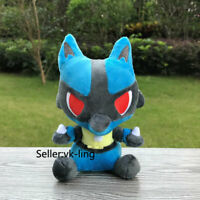 Allstra Collection Cute Lucario 17cm Plush Stuffed Toy Cartoon Soft Doll Gift