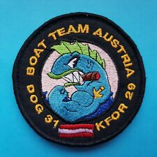 Austria Austrian Kfor 29th Army Contingent Dog 31 Boat Team Sleeve Badge Patch