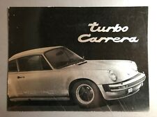 1976 Porsche 911 Turbo Carrera Deluxe Showroom Sales Brochure RARE Awesome XLNT