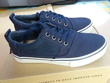 TOMS Valdez Navy Cotton Twill Sneakers - Size UK 6/EU 40