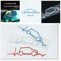 Blue White Red Windsheid Trunk tail Reflective Decal Stickers For MINI Cooper