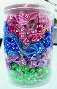 Aria - Dog Puppy Grooming Bows - Canister of 100 - Sequin Ribbon Bow