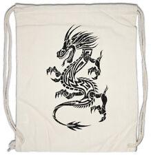 Tribal Chinese Dragon I Turnbeutel China Symbol Tattoo Chinesischer Drache