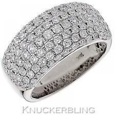 Diamond Wedding Ring 1.65ct Brilliant Cut F Colour VS Clarity in 18ct White Gold