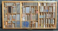 Letterpress Art Wall Hanging Vintage Type Drawer Whittier CA USA Printing Dies#3