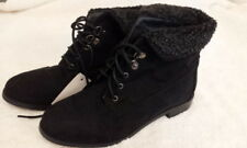 JOHN LEWIS - NEW - Erin Black Faux Suede Lace Up Ankle Boots - Size 3 EU 36