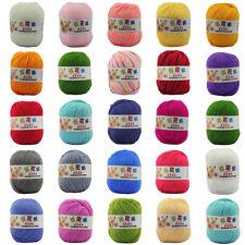 48 Farben Crochet Soft-Bambus Baumwolle Knitting Baby-Woll-Garn 50g / Ball DIY