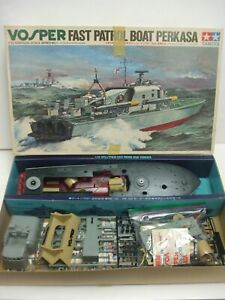 Tamiya Vosper Fast Patrol Boat Perkasa 1/72 Identical Scale Model Kit 7201 w/Box