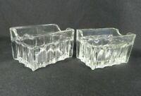 2 Vintage Glass Sugar Packet Holders Tea Bag Sweetener Diner Ware Restaurant