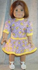 """Doll Clothes Made 2 Fit American Girl 18"""" inch Dress Chicken Yellow Lavender New"""