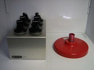 Beckman Coulter Centrifuge Buckets 100.9 Tubes & Rack 331186 WITH RED LID