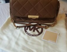 Michael Kors Tan Quilted Handbag with original tissue and dustbag