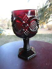"""Vintage AVON Red Ruby Glass Pedstal Pedestal Cape Cod Goblet ~ 4.5"""" H"""