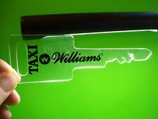 Williams TAXI Original Pinball Machine Plastic Promo Keychain Large Key Shaped