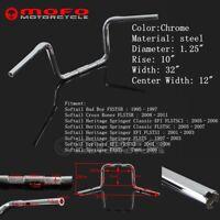 """Chrome 1 1/4"""" Buffalo Style Handlebar 10"""" Ape Hanger For Harley Softail Springer"""