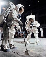 Apollo 11 Buzz Aldrin und Mond Beispiele 8x10 Silber Halogen Fotodruck