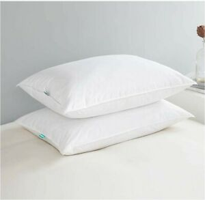 Pillows for Sleeping,100% Cotton Cover,Set of 2 Packing,King Size(20in x 36in),F