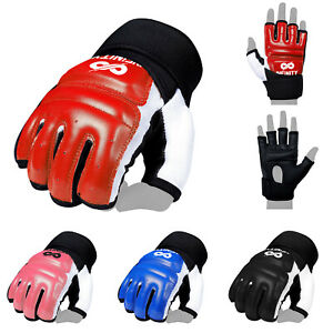 Taekwondo Gloves Hand Protector Sparring Half Finger Karate Martial Arts WTF TKD