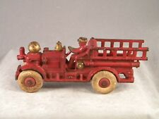 ANTIQUE HUBLEY # 510 CAST IRON AHERNS-FOX PUMPER FIRE TRUCK TOY ~ LANCASTER PA