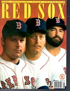 1992 Boston Red Sox baseball yearbook ROGER CLEMENS DWIGHT EVANS WADE BOGGS