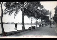 HANOI (INDOCHINE / TONKIN) Allée du PETIT LAC animé en 1913