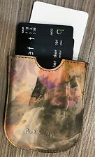 Paul Smith Business Card Case - Beautiful Floral Leather Made in ITALY