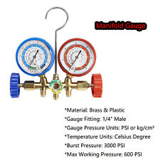 A/C HVAC R12 R134A R22 R502/Diagnostic Manifold Gauge Set Quick Coupler &5ftHose