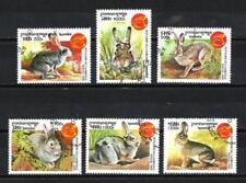 Cambodge 1998 Année du lièvre (89) Yvert n° 1571 à 1576 oblitéré used