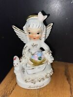 Vintage Napco Spaghetti April Birthday Month Angel Japan Figurine Ceramic Rare