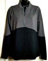 Under Armour Women's Long Sleeve 1/2 Zip Activewear Top Black Gray Size M NWT