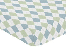 Fitted Crib Toddler Sheet For Sweet Jojo Design Argyle Bedding Set Green Diamond