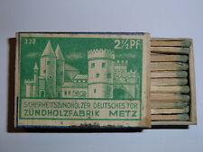 Boite d' Allumettes 2ième Guerre Mondiale Porte des Allemands Metz WW2 matchbox