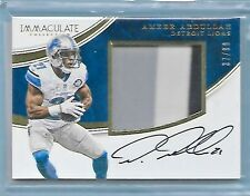 AMEER ABDULLAH 2016 PANINI IMMACULATE PATCH AUTOGRAPH AUTO #'D/99!