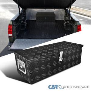 "30""x 13""x 10"" Black Aluminum Tool Box Trunk Under bed Trailer Truck Storage+Lock"
