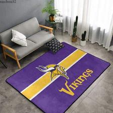 Minnesota Vikings Living Room Bedroom Non-slip Floor Rug Easy to Clean Carpets