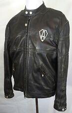 Arlen Ness Motorcycle Leather Jacket black biker large L3