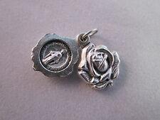 Miraculous Medal Locket Style Rose Slide Italy