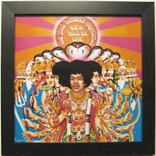 "JIMI HENDRIX PHOTO / FOTO MIT RAHMEN ""AXIS BOLD AS LOVE"" - 30x30cm - POSTER"