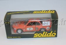 N912 SOLIDO VOITURE BMW 3000 CSL ORANGE MUR BRIAN