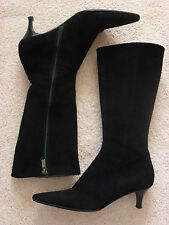 BEAUTIFUL GENTLY WORN BLACK SUEDE FRATELL ROSSETTI BOOTS IN GREAT CONDITION!!!!!
