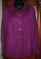 Chico's Size 3 Purple Jacket Long Sleeve EUC Womens Large 16/18 100% Polyester