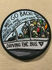 """""""Driving the Bus"""" F-15E Patch, Cross-Squadron Morale Patch, Embroidered, USAF"""
