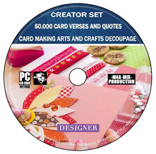 Verses Quotes Card Making Arts Crafts Decoupage Images Creator Set PC Software