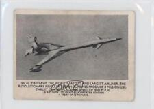 1966 #62 Fireflash the World's Fastest and Largest Airliner Non-Sports Card 0s4