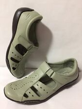 EUC Dr. Scholls Womens 7 Green Advanced Comfort Series Comfot Low Sandals Shoes